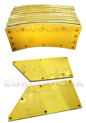 Polyurethane moulded liners