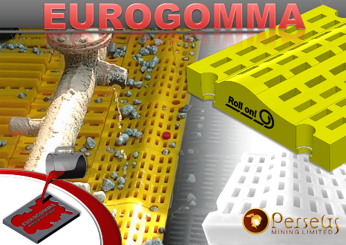 Another great success of Eurogomma: Our ROLL-ON screen panels work great at Perseus Gold
