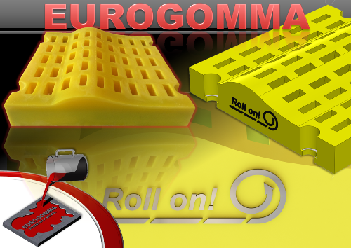 "The new ""Roll on"" polyurethane screen panels of Eurogomma"
